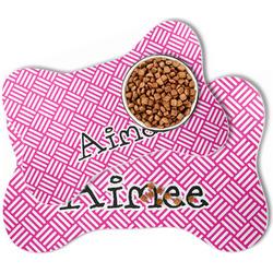 Square Weave Bone Shaped Dog Food Mat (Personalized)
