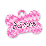Square Weave Bone Shaped Dog Tag (Personalized)