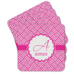 Square Weave Cork Coaster - Set of 4 w/ Name and Initial