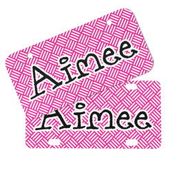 Square Weave Mini/Bicycle License Plates (Personalized)