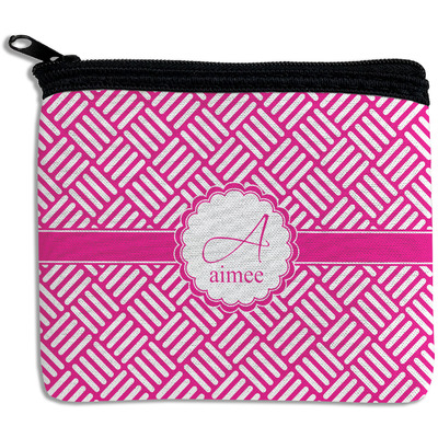 Square Weave Rectangular Coin Purse (Personalized)