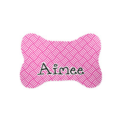 Square Weave Bone Shaped Dog Food Mat (Small) (Personalized)