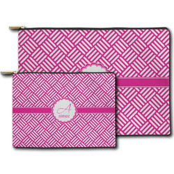 Square Weave Zipper Pouch (Personalized)