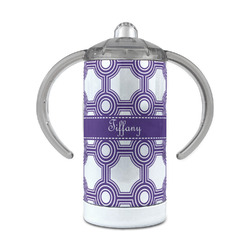 Connected Circles 12 oz Stainless Steel Sippy Cup (Personalized)