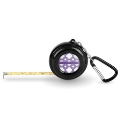 Connected Circles Pocket Tape Measure - 6 Ft w/ Carabiner Clip (Personalized)