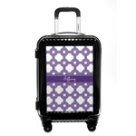 Connected Circles Carry On Hard Shell Suitcase (Personalized)