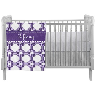 Connected Circles Crib Comforter / Quilt (Personalized)