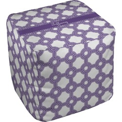 Connected Circles Cube Pouf Ottoman (Personalized)