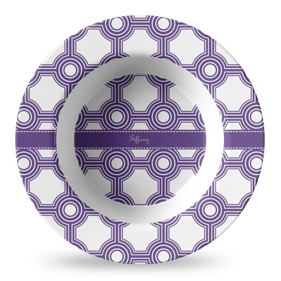 Connected Circles Plastic Bowl - Microwave Safe - Composite Polymer (Personalized)