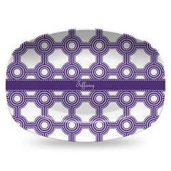Connected Circles Plastic Platter - Microwave & Oven Safe Composite Polymer (Personalized)
