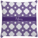 Connected Circles Decorative Pillow Case (Personalized)