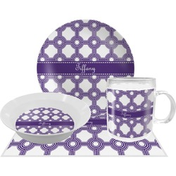 Connected Circles Dinner Set - 4 Pc (Personalized)