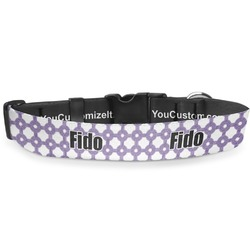 """Connected Circles Deluxe Dog Collar - Small (8.5"""" to 12.5"""") (Personalized)"""