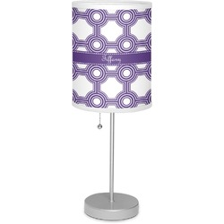 """Connected Circles 7"""" Drum Lamp with Shade (Personalized)"""