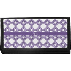Connected Circles Canvas Checkbook Cover (Personalized)