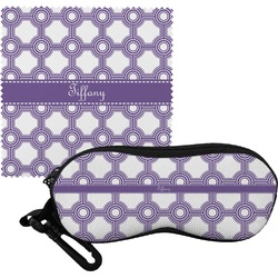 Connected Circles Eyeglass Case & Cloth (Personalized)