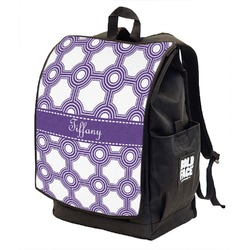 Connected Circles Backpack w/ Front Flap  (Personalized)