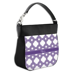 Connected Circles Hobo Purse w/ Genuine Leather Trim (Personalized)