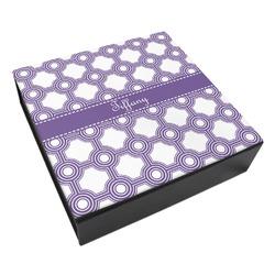 Connected Circles Leatherette Keepsake Box - 3 Sizes (Personalized)