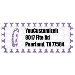 Connected Circles Return Address Label (Personalized)