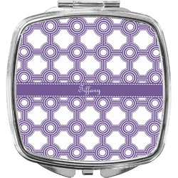 Connected Circles Compact Makeup Mirror (Personalized)