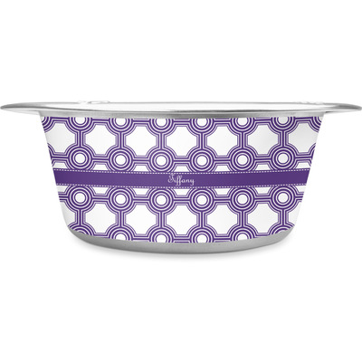 Connected Circles Stainless Steel Dog Bowl (Personalized)