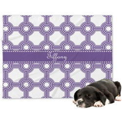 Connected Circles Minky Dog Blanket - Large  (Personalized)