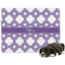 Connected Circles Minky Dog Blanket - Regular (Personalized)