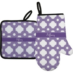 Connected Circles Oven Mitt & Pot Holder (Personalized)