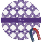 Connected Circles Round Fridge Magnet (Personalized)