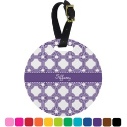 Connected Circles Round Luggage Tag (Personalized)