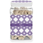 Connected Circles Dog Treat Jar (Personalized)