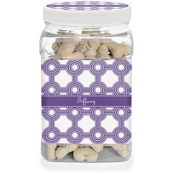 Connected Circles Pet Treat Jar (Personalized)