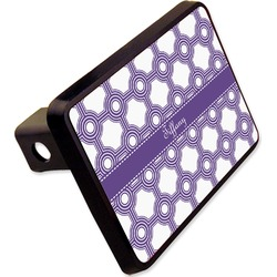 """Connected Circles Rectangular Trailer Hitch Cover - 2"""" (Personalized)"""