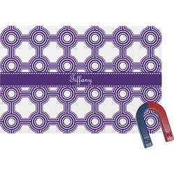 Connected Circles Rectangular Fridge Magnet (Personalized)