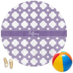 Connected Circles Round Beach Towel (Personalized)