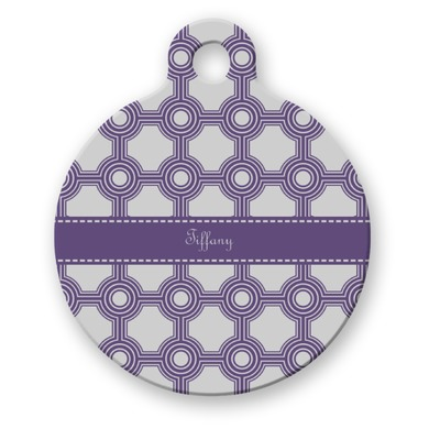 Connected Circles Round Pet ID Tag (Personalized)