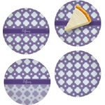 Connected Circles Set of Appetizer / Dessert Plates (Personalized)