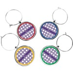 Connected Circles Wine Charms (Set of 4) (Personalized)