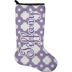 Connected Circles Holiday Stocking - Neoprene (Personalized)