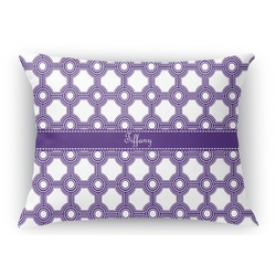 Connected Circles Rectangular Throw Pillow Case (Personalized)