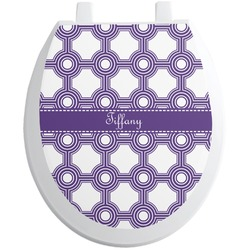 Connected Circles Toilet Seat Decal (Personalized)