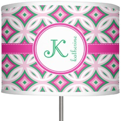 "Linked Circles & Diamonds 13"" Drum Lamp Shade (Personalized)"