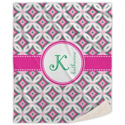 Linked Circles & Diamonds Sherpa Throw Blanket (Personalized)