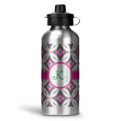 Linked Circles & Diamonds Water Bottle - Aluminum - 20 oz (Personalized)