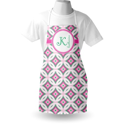 Linked Circles & Diamonds Apron (Personalized)