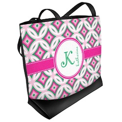 Linked Circles & Diamonds Beach Tote Bag (Personalized)