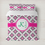 Linked Circles & Diamonds Duvet Cover (Personalized)