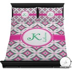 Linked Circles & Diamonds Duvet Cover Set (Personalized)