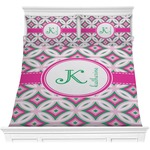Linked Circles & Diamonds Comforter Set (Personalized)